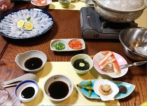写真:旅行先の食卓